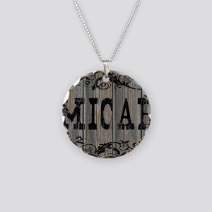 Micah, Western Themed Necklace Circle Charm