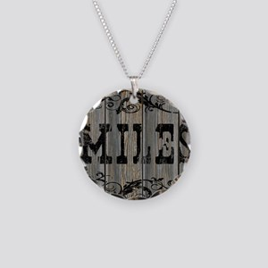 Miles, Western Themed Necklace Circle Charm