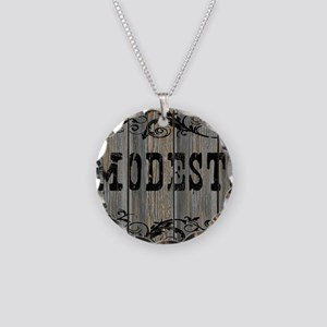 Modesto, Western Themed Necklace Circle Charm
