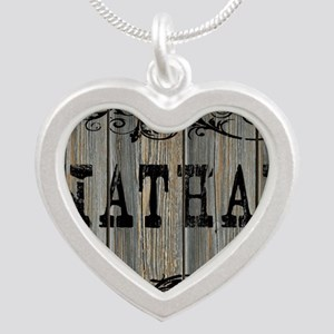 Nathan, Western Themed Silver Heart Necklace