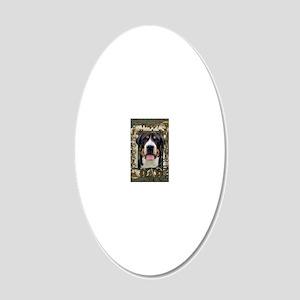 StonePawsGreaterSwissMountai 20x12 Oval Wall Decal