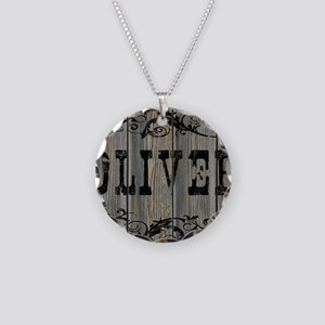 Oliver, Western Themed Necklace Circle Charm