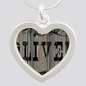 Oliver, Western Themed Silver Heart Necklace