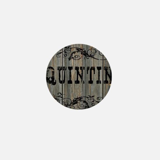 Quintin, Western Themed Mini Button