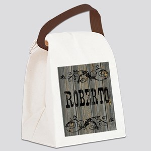 Roberto, Western Themed Canvas Lunch Bag