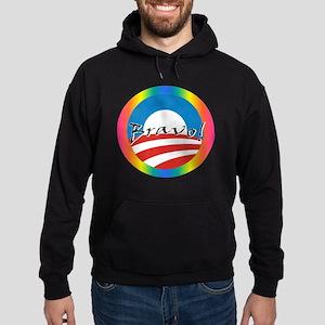 Obama Gay Marriage Hoodie (dark)
