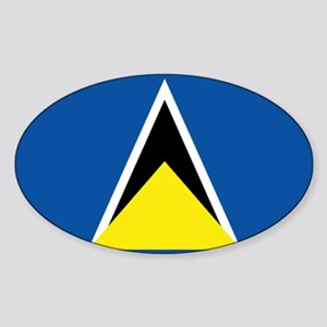Saint Lucia flag Sticker (Oval)