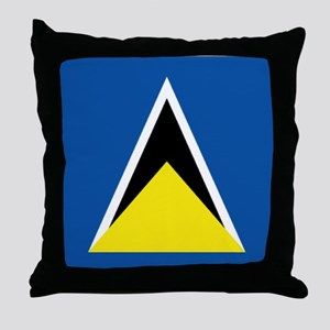 Saint Lucia flag Throw Pillow