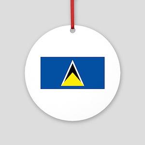 Saint Lucia flag Ornament (Round)
