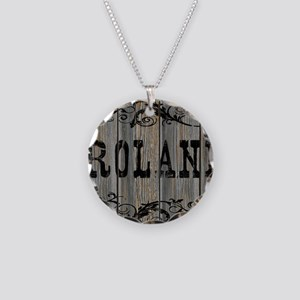 Roland, Western Themed Necklace Circle Charm