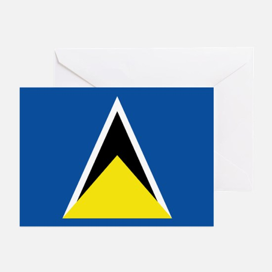 Saint Lucia flag Greeting Cards (Pk of 10)