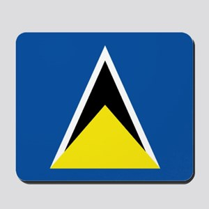 Saint Lucia flag Mousepad