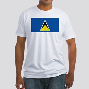 Saint Lucia flag Fitted T-Shirt
