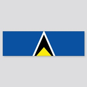 Saint Lucia flag Sticker (Bumper)