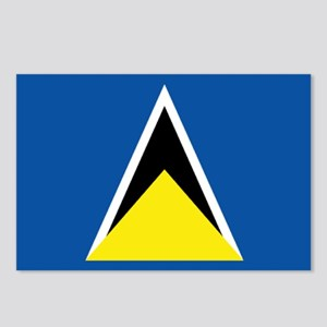 Saint Lucia flag Postcards (Package of 8)
