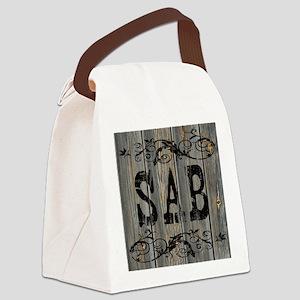 Sab, Western Themed Canvas Lunch Bag