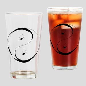 YingyangBrush Drinking Glass