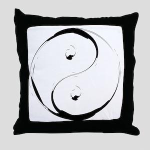 YingyangBrush Throw Pillow
