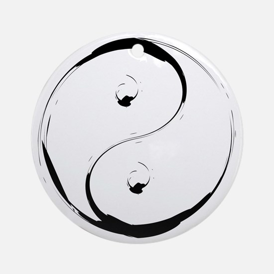 YingyangBrush Round Ornament