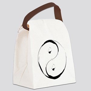 YingyangBrush Canvas Lunch Bag