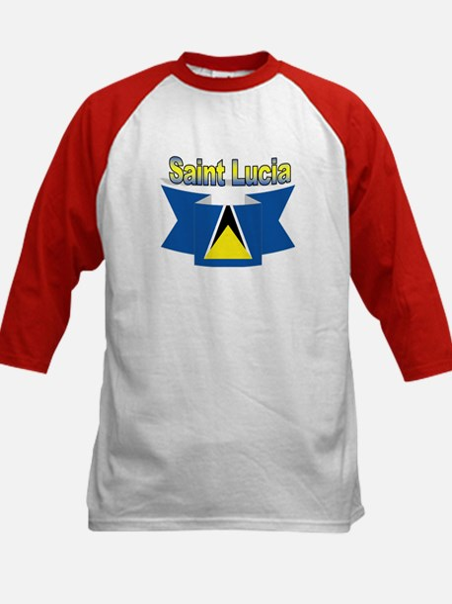 St Lucia Ribbon Kids Baseball Jersey