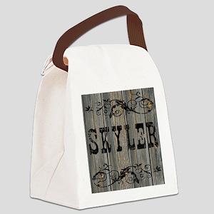 Skyler, Western Themed Canvas Lunch Bag