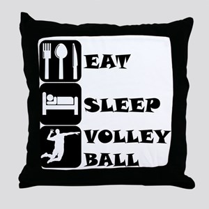 Eat Sleep Volleyball Throw Pillow