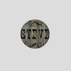 Steve, Western Themed Mini Button