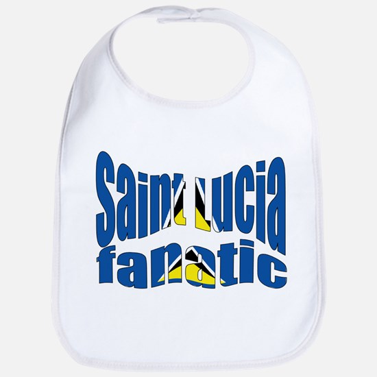 St Lucia fanatic flag Bib