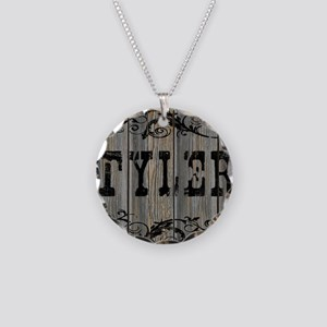 Tyler, Western Themed Necklace Circle Charm