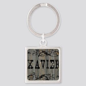 Xavier, Western Themed Square Keychain