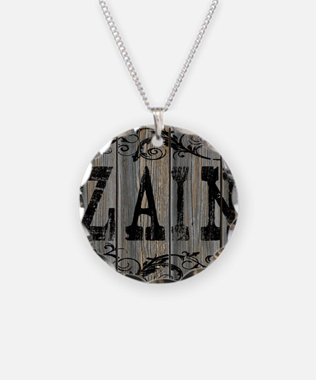 Zain, Western Themed Necklace Circle Charm