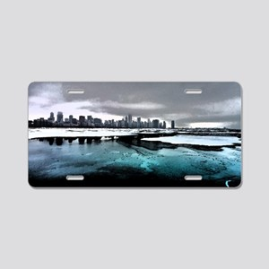 Chicago Sketched Aluminum License Plate