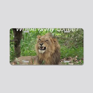 Angry Male Lion wants his c Aluminum License Plate