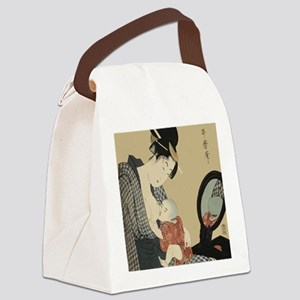 Kitagawa Utamaro - Mother and Chi Canvas Lunch Bag