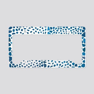 Tropical Blue License Plate Holder