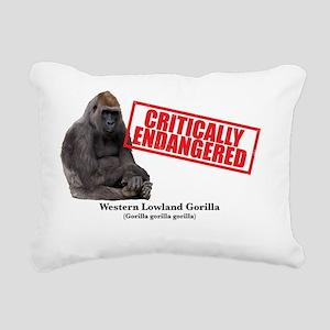 Western Lowland Gorilla Rectangular Canvas Pillow