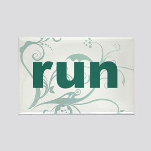 run_green_sticker Rectangle Magnet