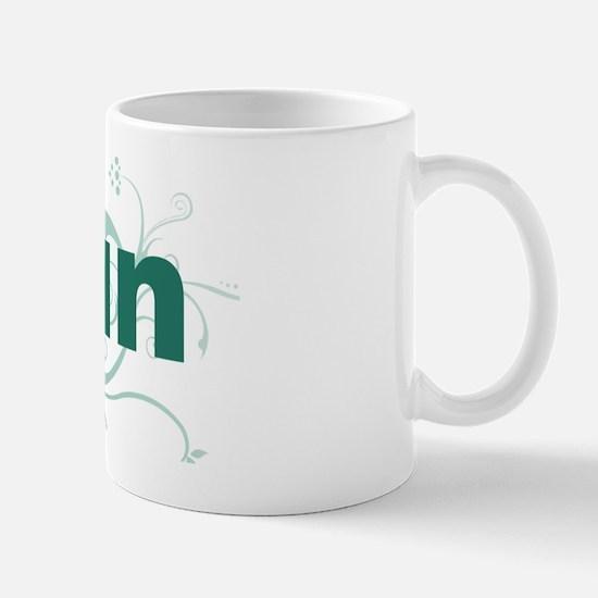 run_green_sticker Mug