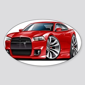 Dodge Charger SRT8 Red Car Sticker (Oval)