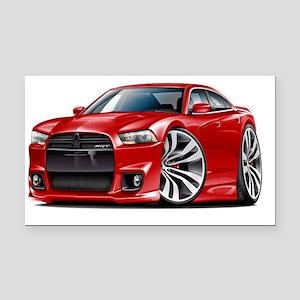 Dodge Charger SRT8 Red Car Rectangle Car Magnet