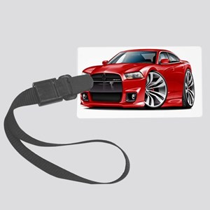 Dodge Charger SRT8 Red Car Large Luggage Tag