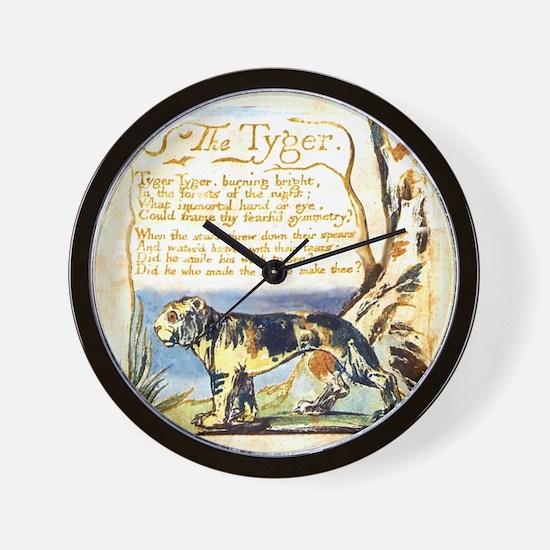 Blake Tyger Wall Clock