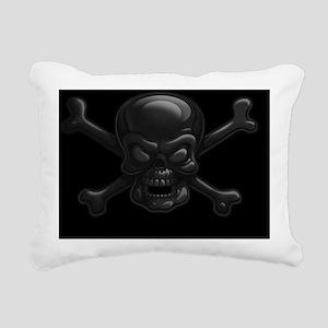 black-skull-OV Rectangular Canvas Pillow