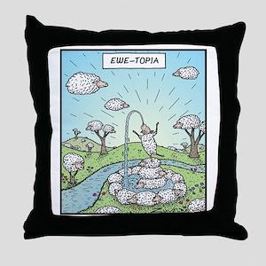 Ewe-topia Throw Pillow
