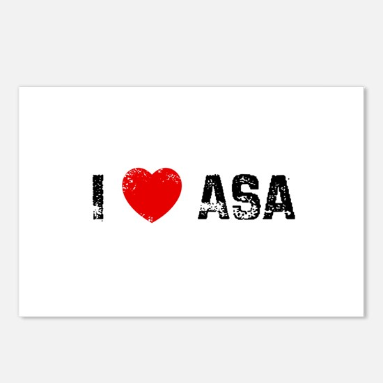 I * Asa Postcards (Package of 8)