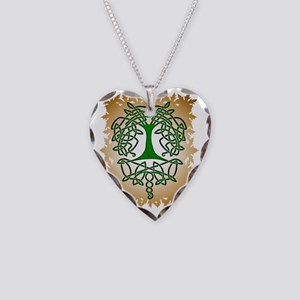 Celtic Tree of Life Necklace Heart Charm