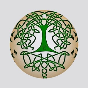 Celtic Tree of Life Round Ornament