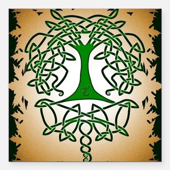 "Celtic Tree of Life Square Car Magnet 3"" x 3"""