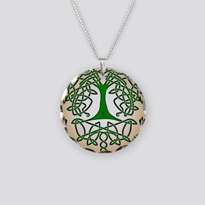 Celtic Tree of Life Necklace Circle Charm